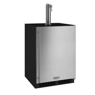 24-In Beverage Dispenser with Door Style - Stainless Steel, Door Swing - Right
