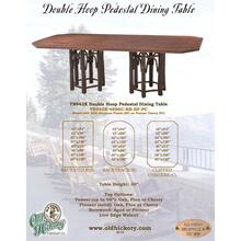 Double Hoop Pedestal Dining Table