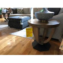 HAMMARY ROUND END TABLES (PAIR)