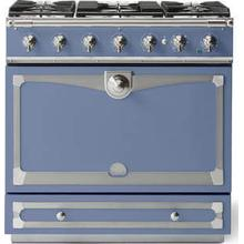 Provence Blue Albertine 90 with Satin Chrome Accents