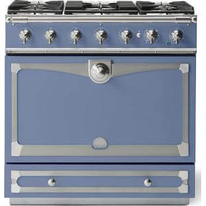 Lacornue Cornufe - Provence Blue Albertine 90 with Satin Chrome Accents