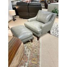 View Product - Stallion Light Grey Chair & Ottoman