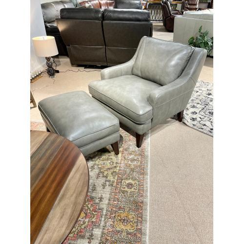 Simon Li Furniture - Stallion Light Grey Chair & Ottoman