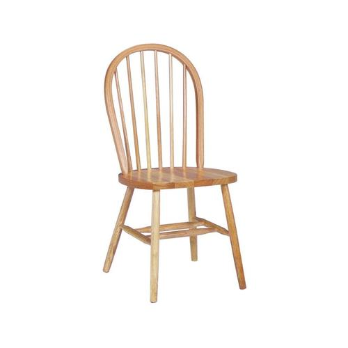 Spindle Bowback Side Chair in Natural Finish