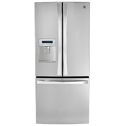21.8 cu. ft. French Door Bottom-Freezer Refrigerator- Stainless Steel