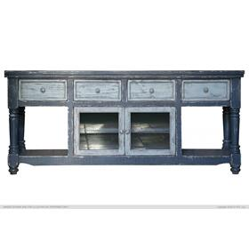 "Aruba 70"" Dark Blue TV Stand"