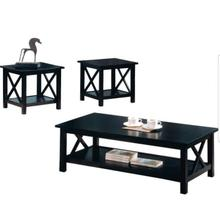 Occasional Table Set, Essence Collection, Deep Merlot Finish