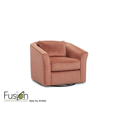Fusion Furniture - Swivel Chair Geordie Clay