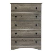 Big Chester - 5 Drawer Chest - Weathered Grey Ash