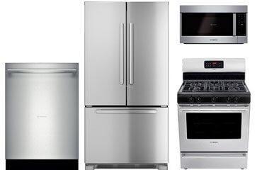 Bosch Stainless Steel 4-piece Kitchen Package (Gas)