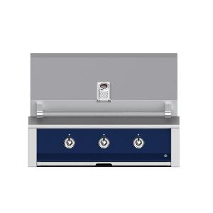 """Hestan - Aspire By Hestan 36"""" Built-In U-Burner and Sear Grill NG Midnight Blue"""