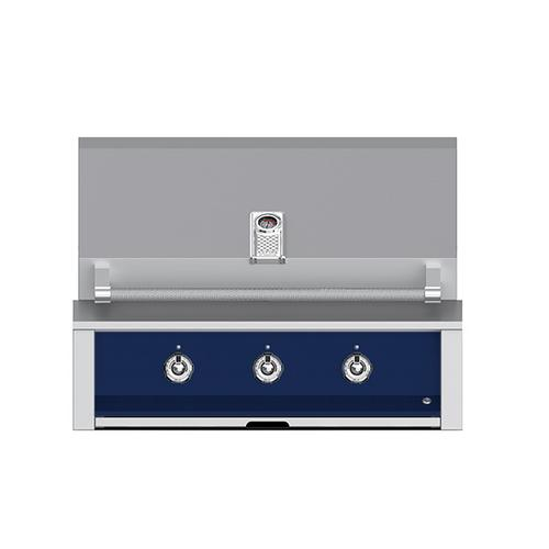 """Product Image - Aspire By Hestan 36"""" Built-In U-Burner and Sear Grill NG Midnight Blue"""
