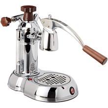 See Details - La Pavoni Stradivari Europiccola Manual 8-Cup Espresso Machine, Chrome with Wood Handles