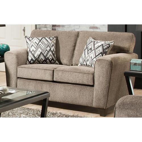 American Furniture Manufacturing - Cornell Pewter Loveseat (Loveseat - Stationary)