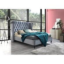 Hollywood - King Platform Upholstered Bed - Grey