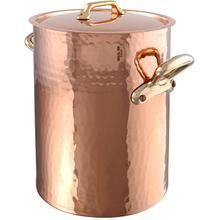 Mauviel M'Tradition Soup Pot with Bronze Handles, 13.8-Quart