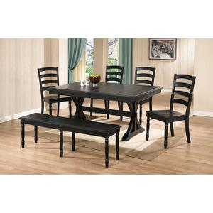Quails Run Dining Set Ebony Finish