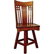 Andalusia Amish Custom Swivel Bar / Counter Stool