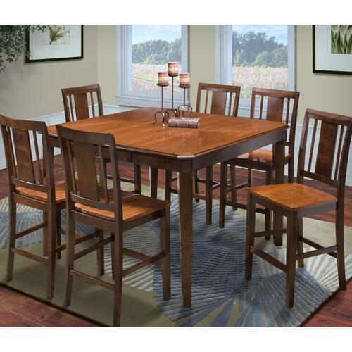 Latitudes Counter Table and Six Chairs