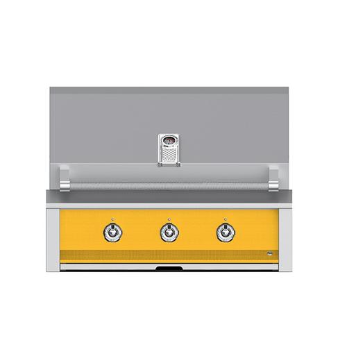 """Aspire By Hestan 36"""" Built-In U-Burner and Sear Grill NG Yellow"""