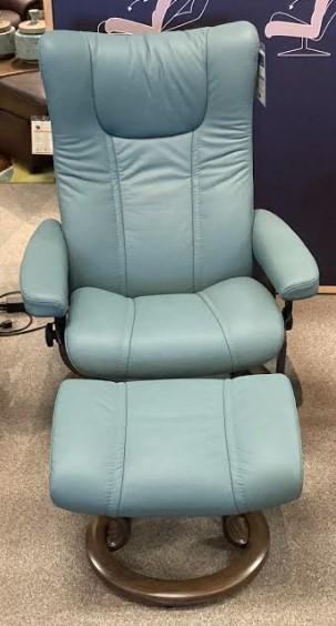 Stressless By EkornesStressless Wing Medium Classic Base Chair And Ottoman