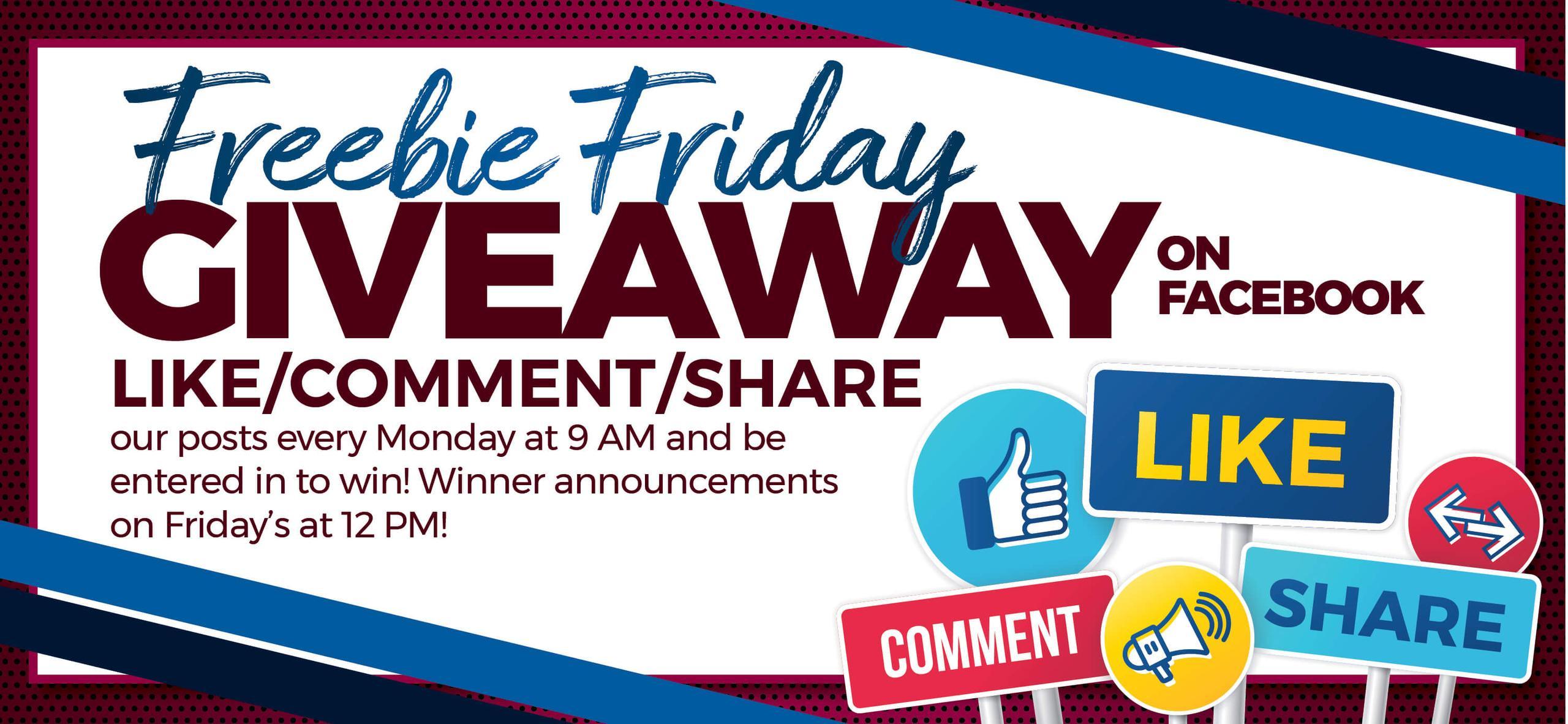 Freebie Fridays on Facebook