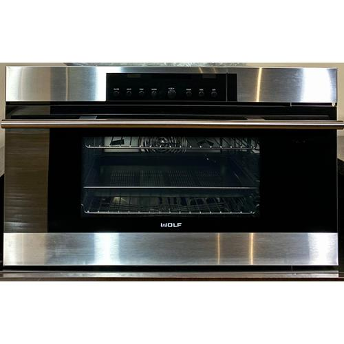 "Wolf CSO30TESTH     30"" M Series Contemporary Convection Steam Oven"
