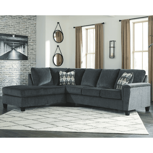 Abinger - Smoke   2-Piece Sleeper Sectional with Left Facing Chaise