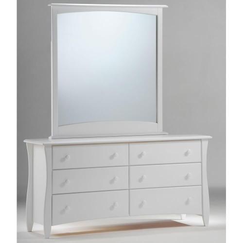 Clove 6 Drawer Dresser White Finish