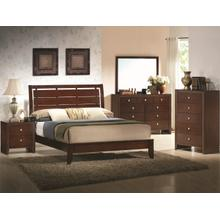 CrownMark 4 Pc Queen Bedroom Set, Espresso Evan B4700
