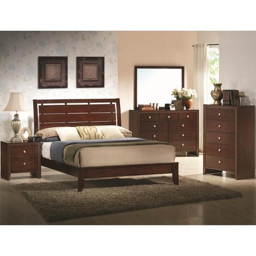 CrownMark 4 Pc Queen Bedroom Set, Espresso Evan B4700