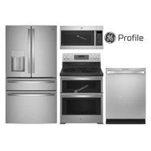 """See Details - GE PROFILE 36""""  4 DOOR FRENCH W/ DOUBLE OVEN"""