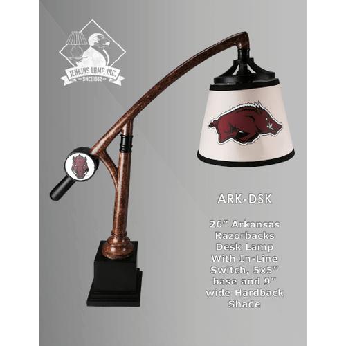 Arkansas Razorback Desk Lamp