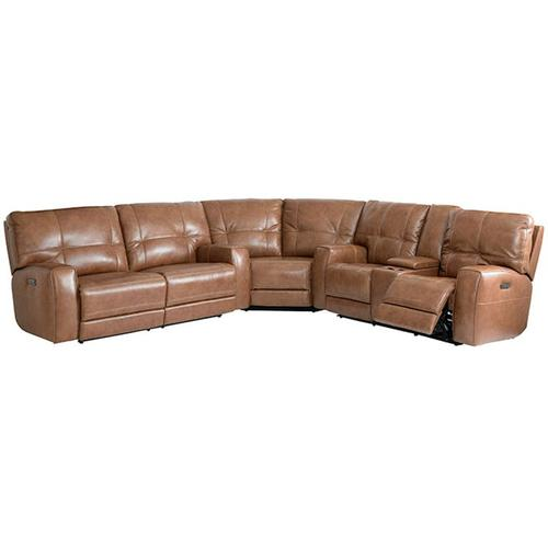 Conway Curved Corner Sectional in Umber