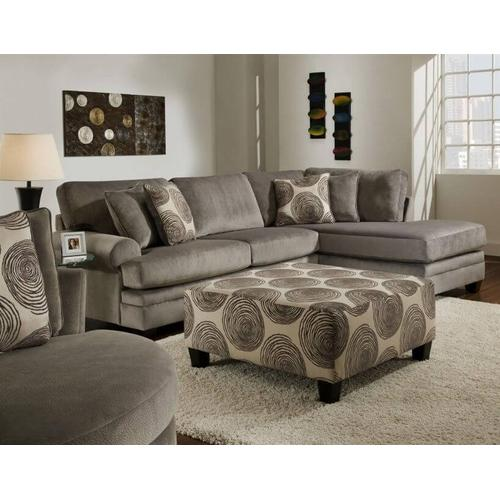 Albany Industries - 2 Pc. Groovy Smoke Sectional Set