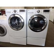 Refurbished LG Front Load Washer Dryer Set On PedestalsPlease call store if you would like additional pictures. This set carries our 6 month warranty, MANUFACTURER WARRANTY AND REBATES ARE NOT VALID (Sold only as a set)