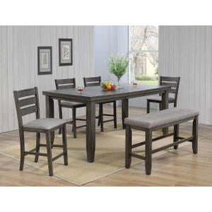 Bardstown 5pc Counter Height Set Plus Bench