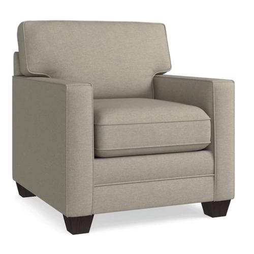 Bassett Furniture - Alex Track Arm Chair - Straw