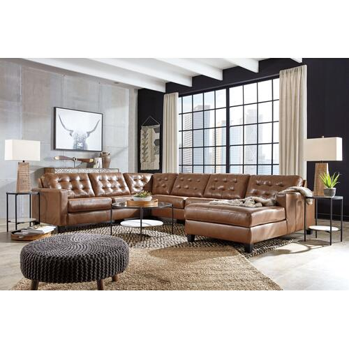 Baskove 4 pc Leather Sectional