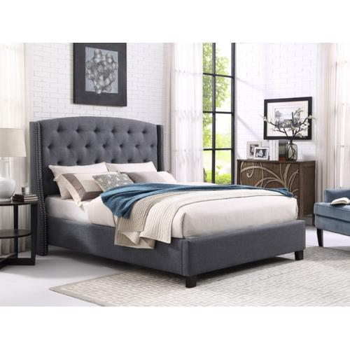 Crown Mark - Eva Gray Bed - King Size