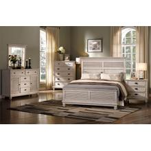 Lakeport 6/6 EK Bedroom Set 5pc-(BED,DR,MR,2NS)-Driftwood