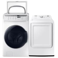 See Details - SAMSUNG 5.5 cu. ft. Smart Washer with FlexWash & 7.2 cu. ft. Electric Dryer with Sensor Dry- Open Box