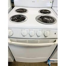 "USED- Hotpoint® 24"" Compact Electric Range White- E24WHCOIL-U SERIAL #1"
