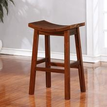Powell Furniture Arnold Natural Saddle Bar Stool