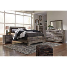 Derekson Multi Gray 5 Piece Bed Set (Queen)