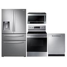 SAMSUNG Stainless 4 Piece Steel Kitchen