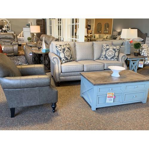 Rolled Arm Sofa w. Nailhead Trim, Style 791050