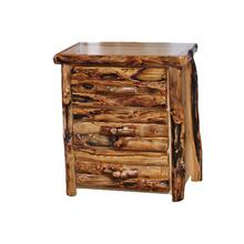 3 Drawer Chest Log Front Natural Panel Gnarly Log