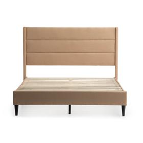 Beck Queen Upholstered Bed Tan