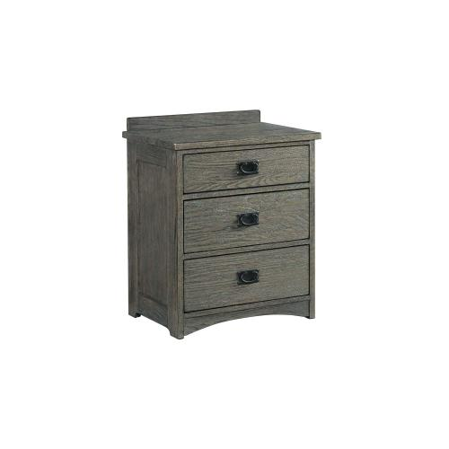 Oak Park Pewter Nightstand with Power Outlets
